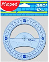 Maped Rapporteur Geometric 360 degrés 12 cm