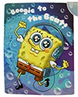 Nickelodeon Micro Sherpa Boogie to the Beat Spongebob Throw - Spongebob Squarepants Blanket