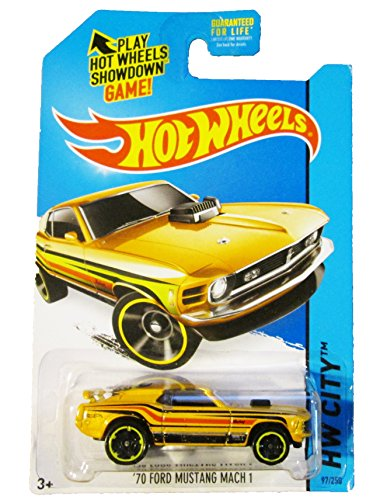 Hot Wheels, 2014 HW City, '70 Ford Mustang Mach 1 [Yellow] Die-Cast Vehicle #97/250
