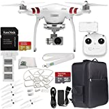 DJI Phantom 3 Standard with 2.7K Camera and 3-Axis Gimbal & Manufacturer Accessories + DJI Propeller Set + Backpack + Quick Release Snap On/Off Prop Guards