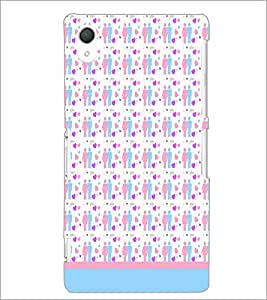 PrintDhaba Love Couple Pattern D-1597 Back Case Cover for SONY XPERIA Z2 (Multi-Coloured)