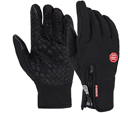 Vbiger Outdoor Cycling Glove Touchscreen Gloves for Smart Phone (Black, Xl)