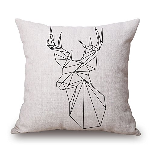 Uloveme Throw Pillow Covers 18 X 18 Inches / 45 By 45 Cm(twin Sides) Nice Choice For Office,kids Girls,dinning Room,sofa,her,couch Deer