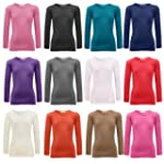 NEW Girls Plain Full Long Sleeve Top...