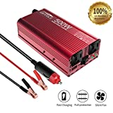 Car Power Inverter,EBTOOLS 500W /1000W Inverter 12V DC to 110V AC Car Converter with 2 AC Outlets and 2.1A USB ports for Laptop,Smartphone,Household Appliances in case Emergency, Storm and Outage