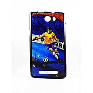 AVER Graphik Soccer Boy Soft TPU Back Case Cover for Micromax Canvas Hue AQ5000 Mobile Cell Phone (Black)