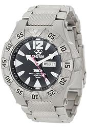 REACTOR Men's 52001 Gamma Never Dark Titanium Watch with Link Bracelet