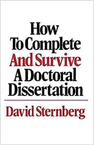 My doctoral dissertation: Sample Essays