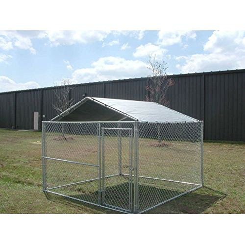 King Canopy Dog House Kennel Cover - 10 by 10 -Feet Silver (Pet Pic Frame compare prices)