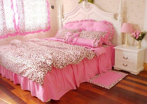 Pink Leopard Print Bedding front-323392