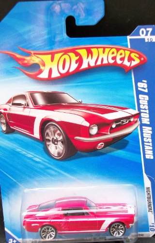 Hot Wheels 2010 Nightburnerz Series #07 Red '67 CUSTOM MUSTANG 095/240 1:64 Scale Collectible Car