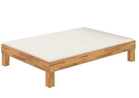 Französisches Bett Doppelbett 140x200 Bio Buche natur geölt Bettrahmen Futonbett 60.87-14 M