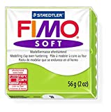 1 x STAEDTLER Apple Green (50) FIMO Soft Polymer Modelling Moulding Clay Block Colour 56g