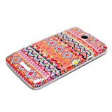 DeinPhone Zig Zag Pattern Case Cover Bumper for HTC One X XL X+ Plus - Orange