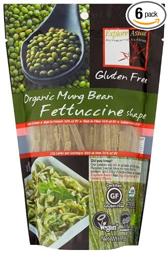 Exas Fettuccine, Mung Bean, 7.05-Ounce (Pack of 6)