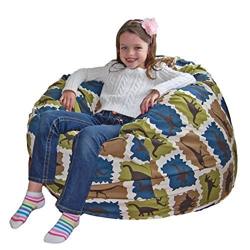 Ahh! Products Blue Dinosaurs Cotton Washable Large Bean Bag Chair by Ahh! Products