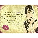 """Audrey Hepburn """"Believe In Pink"""" mela sign (og 2015)"""