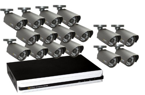 Q-See QS4816-1652-1 16-Channel Security Surveillance DVR System with 16 High-Resolution Cameras and 1TB Hard Drive, Black