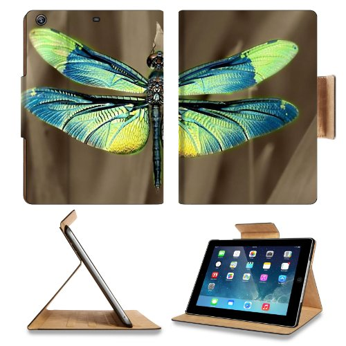 Insect Dragonfly Outdoor Nature Wings Closeup Apple Ipad Air Retina Display 5Th Flip Case Stand Smart Magnetic Cover Open Ports Customized Made To Order Support Ready Premium Deluxe Pu Leather 9 7/16 Inch (240Mm) X 7 5/16 Inch (185Mm) X 5/8 Inch (17Mm) Li