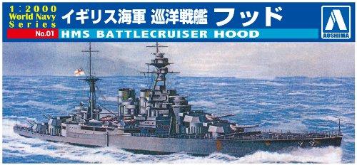 1/2000 ワールドネイビーシリーズNo.01 イギリス海軍 巡洋戦艦 フッド
