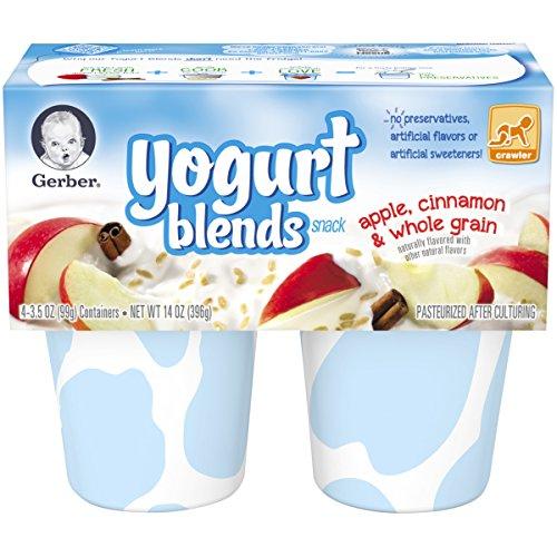 Gerber Yogurt Blends Snack, Apple Cinnamon, 14-Ounce (Pack of 6)