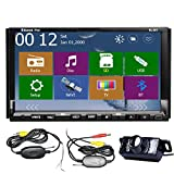Windows 8.0 New UI 2015 Newest 7-inch Double 2 Din TFT Screen In-Dash Car DVD CD Video Player Stereo Audio Radio Head Deck With Bluetooth,Navigation-Ready GPS iPod-Input+Free GPS Map+FREE Wireless Back Camera Nightvision Map