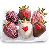 Golden State Fruit 6 Piece Heartfelt Valentine Chocolate Covered Strawberries