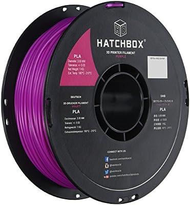 HATCHBOX 3.00 MM PLA 3D Printer Filament 1KG (2.2 lb) Spool - Primary Colors