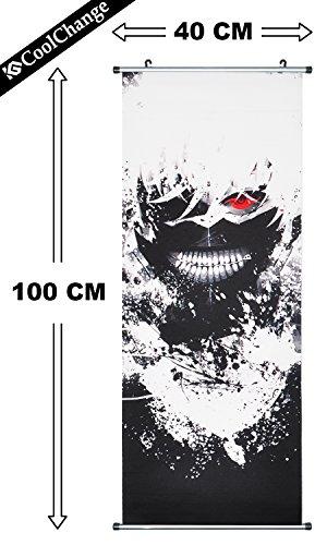 CoolChange Poster / Kakemono Tokyo Ghoul in tessuto, 100x40cm, motivo: Ken Kaneki