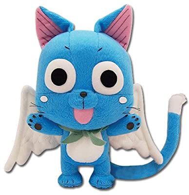 "Great Eastern GE-6968 Animation Official Fairy Tail Anime Happy 8"" Plush from Great Eastern"