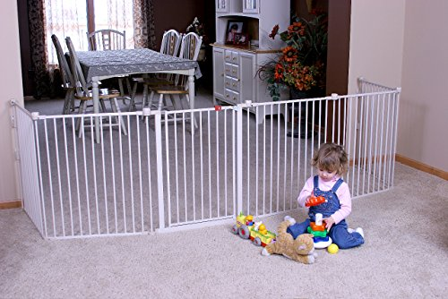 Gates Doorways Barrier 8 Panels Extra Wide Baby Safety Pet