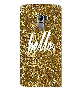 PrintDhaba Hello D-1105 Back Case Cover for LENOVO K4 NOTE A7010 (Multi-Coloured)