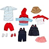 Childcraft Doll Clothes for 13 inch Dolls - Set of 14 - Fabrics and Colors May Vary - Dolls Not Included