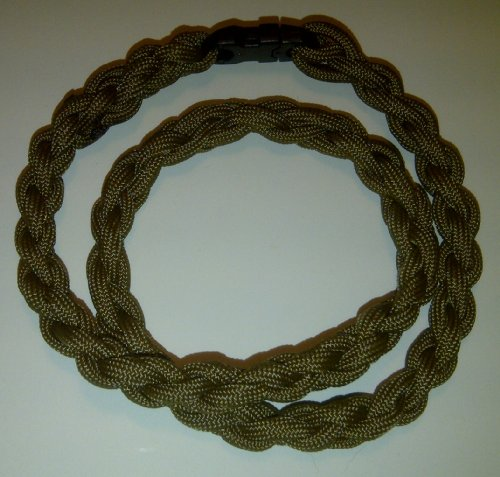 Paracord Survival Necklace Tan (Medium 20 inches)