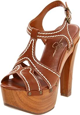 Jessica Simpson Women's Js-Wenda Ankle-Strap Sandal,Light Luggage,5 M US