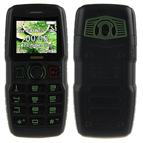 Padgene Outdoor SOS Handy Große Tasten Mobiltelefon Super Lang Standbyzeit Ohne Vertrag Blockhandy für Alter Senior mit Taschenlampe Kamera (B30-Grün)
