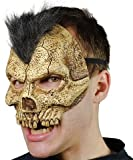 Classic Freaks half-face mask with hair - Skeleton Skull