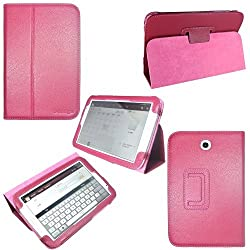 i-design Samsung Galaxy Note 8.0 Premium Leather Case with Flip Stand, Stylus Loop and Wake/Sleep Function (Galaxy Note 8.0, Magenta)