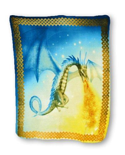 Super Soft Fire Breathing Dragon Fleece Throw Blanket 60 X 50 In. front-973868