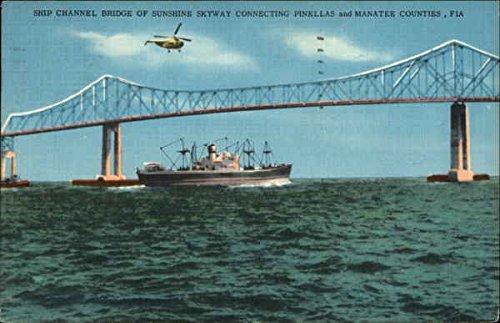 ship-channel-bridge-sunshine-skyway-florida-original-vintage-postcard