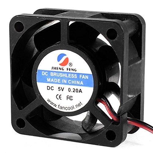 40Mm X 20Mm 2Pin 7 Blades Dc 5V 0.2A Brushless Cooling Fan Black
