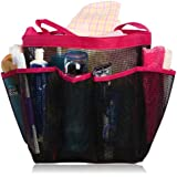Shower Caddy - Quick Dry, Perfect For College & Dorm - Large Pockets To Carry Your Bathroom Accessories & Mirror - Non Stainless Steel Full Mesh Material That Is Rustproof Even If You Throw It In A Corner - Buy With Confidence With Our If It Rips We Replace It Free Guarantee! Buy Original From miQQi - If It Does Not Say Sold By miQQi, It Is Not Original