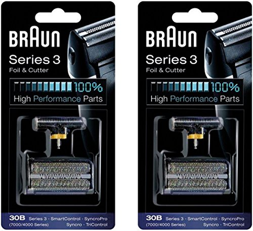 BRAUN 30B 7000 Series 4000 Series Mens Shaver Foil + Cutter Set Head Replacement, 2 Count (Braun 7790 compare prices)