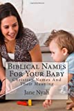 Biblical Names For Your Baby