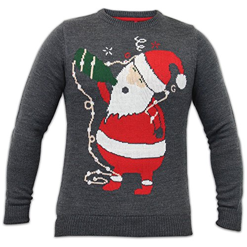 Men's Jumper Christmas IMT160 Charcoal UK Large/US Medium
