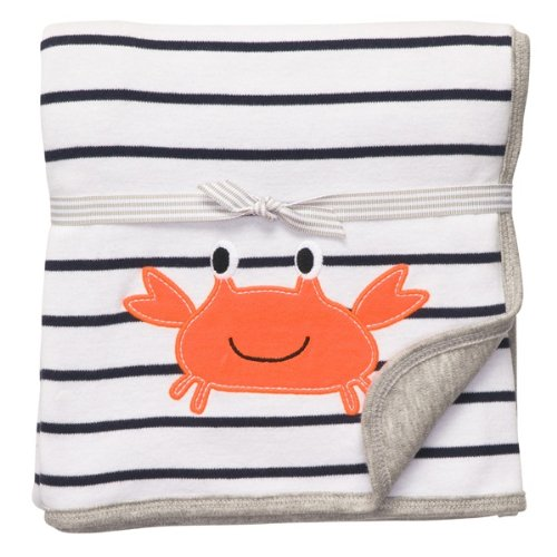 Carter's Crab 2 ply Baby Blanket 100% Cotton