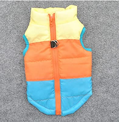 BE GOOD Multicolored winter coat padded jacket Soft Sweat Sleeveless Cotton Clothing Winter Coat for Small Dog Puppy 3 Sizes