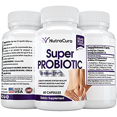 #1 Super Probiotic Supplement - 30 Billion CFU 15 strains - High Potency and Effective for Men and Women of All Ages - Recommended to Improve Digestive Health - 60 Capsules - Made in AMERICA