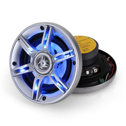 Auna-13cm-Auto-Lautsprecher-3-Wege-Koaxial-Boxen-System-mit-blauem-LED-Lichteffekt-600-Watt-70Hz-bis-20kHz-6-LEDs-CSLED5