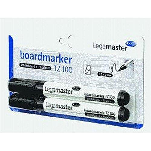 Marqueur pour tableau tZ 100-rechargeable-pointe 1,5/3 mm-noir-lot de 2 cartouches fusibles